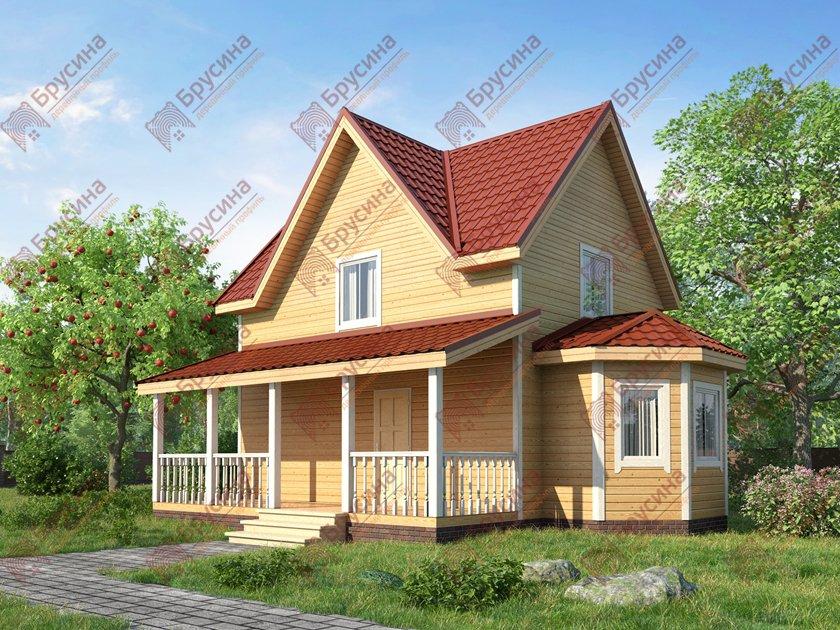 Дом из бруса 7х8 «Гостеприимный» - проект от компании ...  Дом из Бруса 7х8